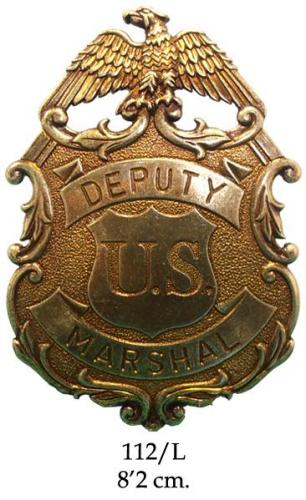 DENIX - Badge - 112L - Eagle Marshal badge (cuivré) - EN STOCK