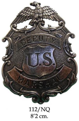 DENIX - Badge - 112 NQ - Eagle Marshal badge (argenté) - EN STOCK
