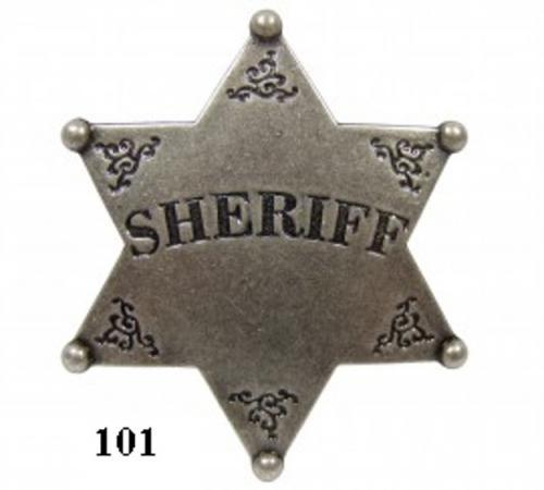 DENIX - Etoile de Sheriff - 101 -Six point ball tipped sheriff star - EN STOCK