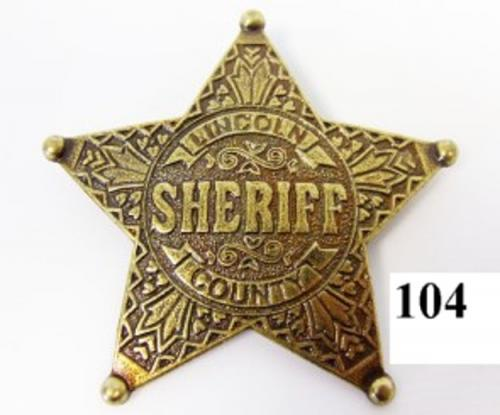 DENIX - Etoile de Sheriff - 104 - Five point ball tipped star badge - EN STOCK