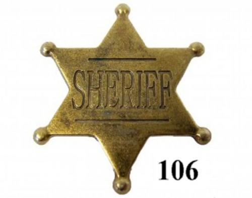 DENIX - Etoile de Sheriff - 106 -Six point ball tipped sheriff star (modèle enfant) - EN STOCK