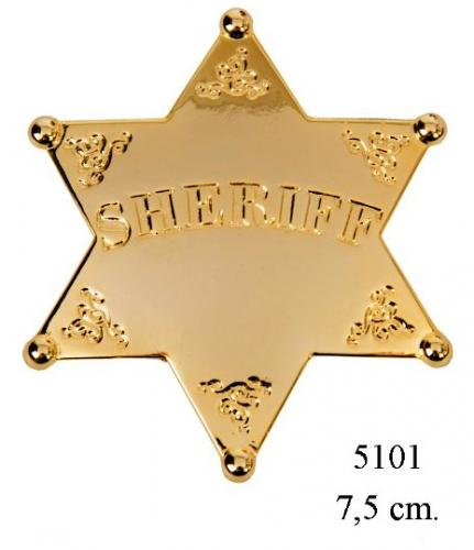 DENIX - Etoile de Sheriff - 5101 - Six point ball tipped Sheriff Star (version or) - EN STOCK
