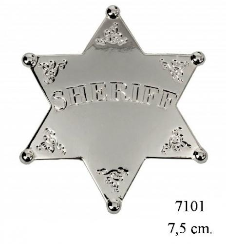 DENIX - Etoile de Sheriff - 7101 - Six point ball tipped Sheriff Star (version argent) - EN STOCK