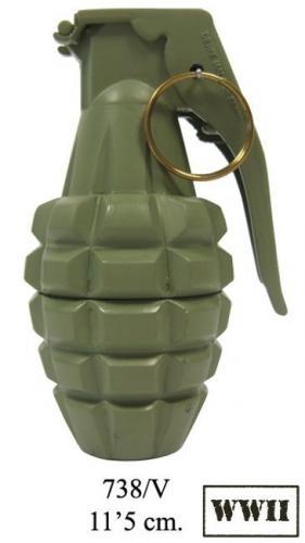 DENIX - Grenade - 738V - MK 2 or pineapple hand grenade, USA (World War II) -EN STOCK