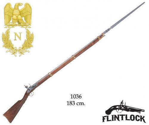DENIX - Napoleonic Period - 1036 - Flintlock rifle with bayonet, France 1806 - EN STOCK