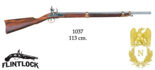 DENIX - Napoleonic Period - 1037 - Flintlock carbine, France 1806 - EN STOCK