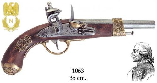 DENIX - Napoleonic Period - 1063 - Napoleon pistol manufactured by Gribeauval, 1806 - disponible sur commande