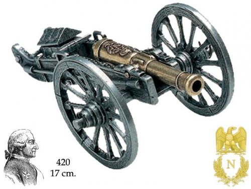DENIX - Napoleonic Period - 420 - Napoleon cannon, manufactured by Gribeauval, 1806 - disponible sur commande