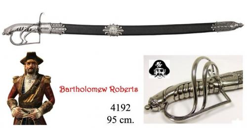 DENIX - Sabre - 4192 - Bartholomew Roberts 1682-1722 pirate sabre, Welsh 18th. C. - disponible sur commande