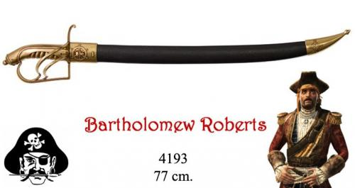 DENIX - Sabre - 4193 - Bartholomew Roberts 1682-1722 pirate sabre, Welsh 18th. C. - disponible sur commande