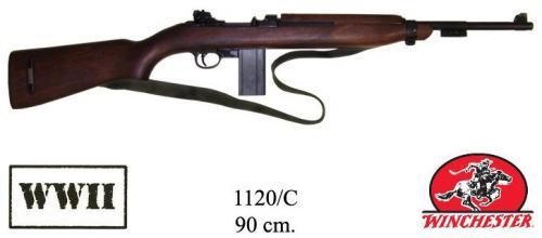 DENIX - WWII - 1120C - M1 carbine, caliber .30, des. by Winchester, USA 1941 (vendu sans bretelle) - disponible sur commande