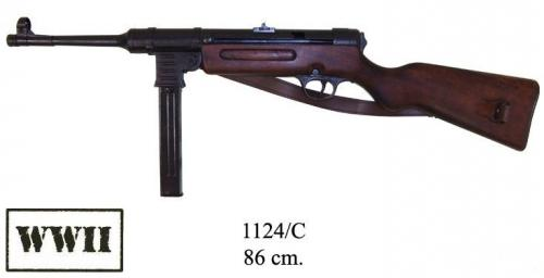 DENIX - WWII - 1124C - MP41 sub-machine gun, 9mm, Germany 1940 with leather belt - disponible sur commande