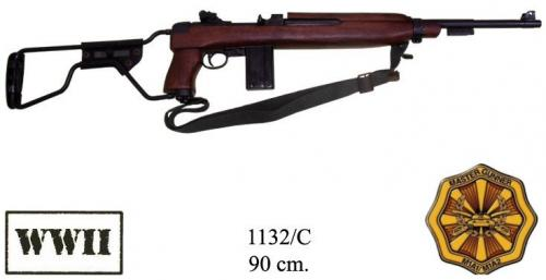 DENIX - WWII - 1132C - M1A1 carbine, paratrooper model with folding buttstock, USA, 1944, (vendu sans bretelle) - disponible sur commande