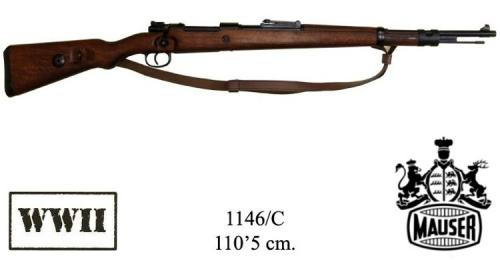 DENIX - WWII - 1146C - 98K Carabine, designed by Mauser, Germany 1935, (vendu sans bretelle) - disponible sur commande
