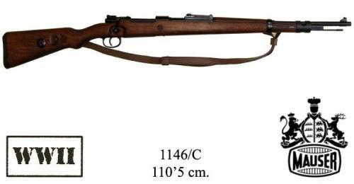 DENIX - WWII - 1146 - 98K Carabine, designed by Mauser, Germany 1935, (vendu sans bretelle) - disponible sur commande