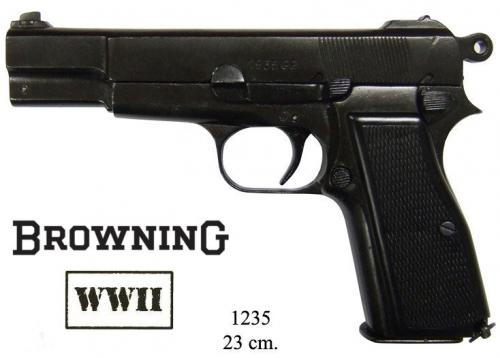 DENIX - WWII - 1235 - Belgium Browning HP or GP35 (1935) - disponible sur commande