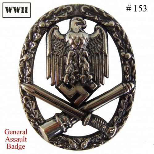 DENIX - WWII - 153 - General Assault Badge - EN STOCK