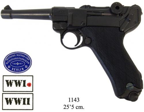 DENIX - WWI and WWII - 1143 - Parabellum Luger P08 pistol, Germany 1898 - EN STOCK