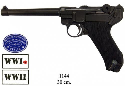DENIX - WWI and WWII - 1144 - Parabellum Luger P08 pistol, Germany 1898 - disponible sur commande