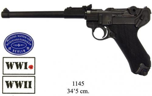 DENIX - WWI and WWII - 1145 - Luger P08 artillery model, Germany 1917 - disponible sur commande