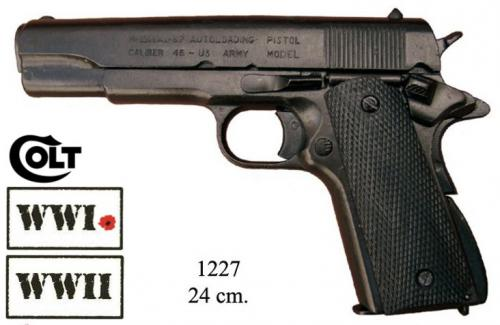 DENIX - WWI and WWII - 1227 - M1911 pistol, made by Colt, USA 1911 - disponible sur commande