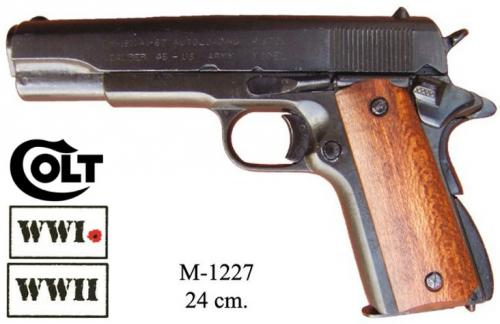 DENIX - WWI and WWI - M1227 - M1911 pistol, made by Colt, USA 1911 with wood grip - disponible sur commande
