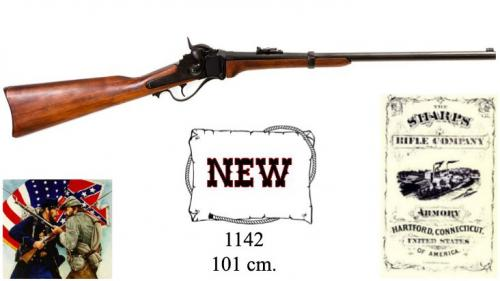 DENIX - carabine - 1142 - Military Sharps carbine, manufactured by Christain Sharp, USA 1859 - EN STOCK