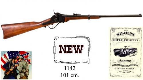 DENIX - carabine - 1142 - Military Sharps carbine, manufactured by Christain Sharp, USA 1859 - EN STOCK