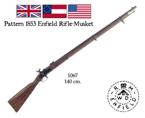 DENIX - carabine - 1067 -  Enfield Pattern 1853 Rifle-Musket, made by Enfield, England - EN STOCK