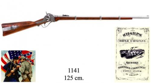 DENIX - carabine - 1141 - Military Sharps rifle, manufactured by Christian Sharp, USA 1859 - EN STOCK