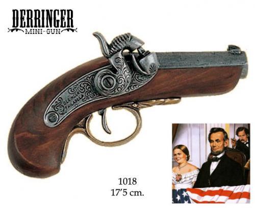 DENIX - revolver - 1018 - Baby Philadelphia Derringer pistol, USA 1850 (arme qui tua Abraham Lincoln) - EN STOCK