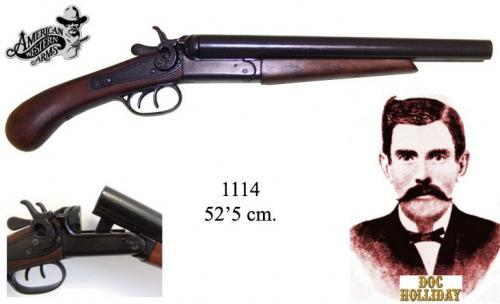 DENIX - revolver - 1114 - Double-barrel pistol, USA 1881 - EN STOCK