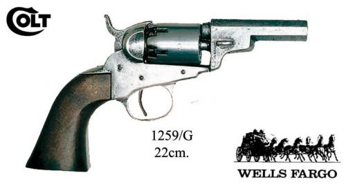 DENIX - revolver - 1259G - 1Wells and Fargo revolver - S. Colt, USA 1849 - EN STOCK