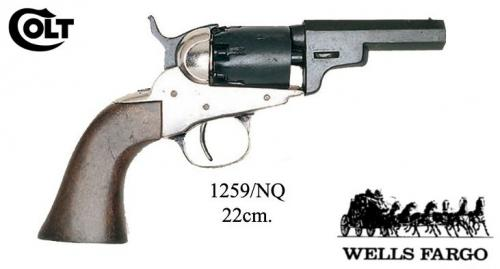 DENIX - revolver - 1259NQ - 1Wells and Fargo revolver - S. Colt, USA 1849 - disponible sur commande