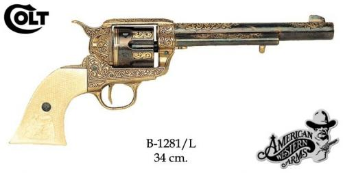 DENIX - revolver - B1281L - Calibre 45 peacemaker revolver 4,75 - S. Colt, USA 1873 - disponible sur commande