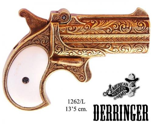 Denix - revolver - 1262L - Derringer pistol, caliber 41, USA 1866 - disponible sur commande