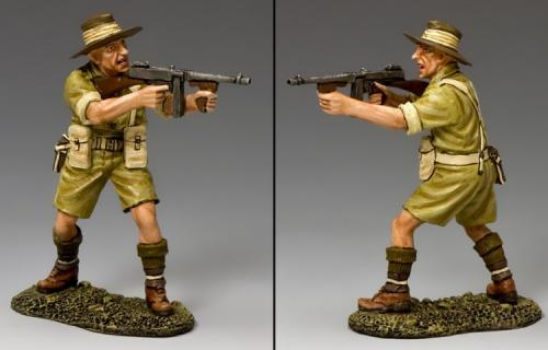 EA098 - Aussie Officer with Tommy Gun