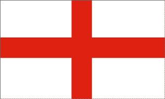 England Flag - Le drapeau d'Angleterre représente la croix de Saint Georges