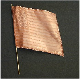 F03 - Union Infantry National Flag and pole. Photo-etched copper flag, 54mm (1-32 scale) - PAS DE STOCK