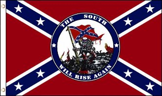 FR004 - Confederate Flag - The South will Rise Again - EN STOCK