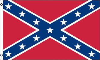 FR010 - Confederate Flag - Le « drapeau confédéré » est un symbole populaire du Sud. Il n a jamais flotté sur la Confédération sous cette forme exacte