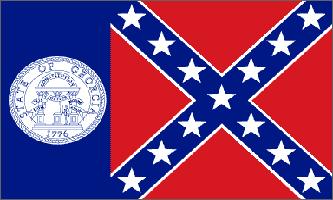 FR012 - Georgia Rebel Flag - Drapeau de la Géogie de 1956 à 2001