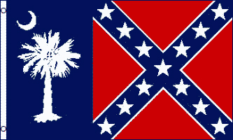 FR024 - Rebel South Carolina Flag - Drapeau confédéré de Caroline du sud