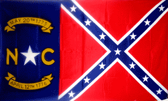 FR027 - Rebel North Carolina - Drapeau confédéré Caroline du nord