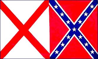 FR046 - Alabama Rebel Flag - Drapeau confédéré de l'Alabama - EN STOCK