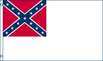 FR072 - 2nd-Confederate - La « The Stainless Banner » (« Bannière sans taches ») est le deuxième drapeau confédéré, officialisé le 1er mai 1863