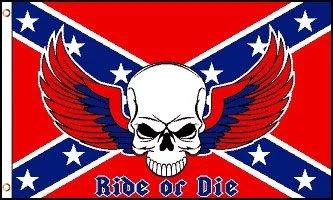 FR079 - Confederate Flag - Ride or Die (Rebel) Flag - EN STOCK