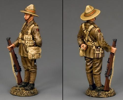 FW182 - New Zealander Stand-at-Ease with his Lee Enfield Rifle