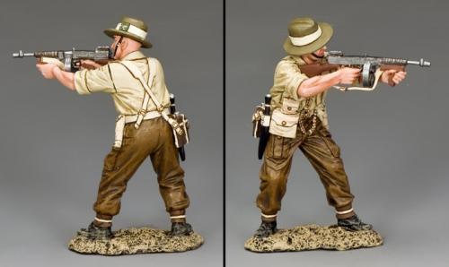 FoB144 - British Gurkha Officer Firing Tommy Gun