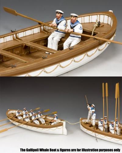 GA030(B) - Oarsmen Rowing Set B, Gallipoli 1915